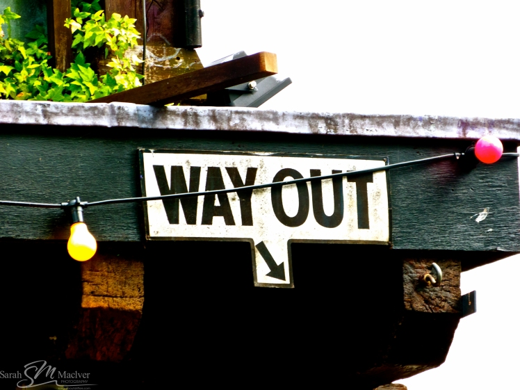 way out sign photography